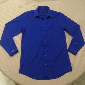 JF J.Ferrar Dress Shirt, Slim Fit, Size Medium